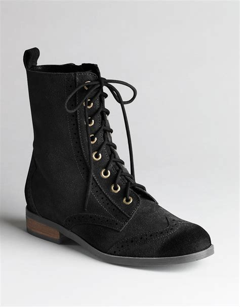 dolce vita suede lace up dv by dolce vita zurich lace up boots in black black