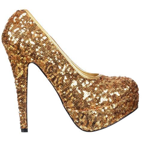 gold stiletto high heels shoekandi gold sparkly sequin high heel platform stiletto