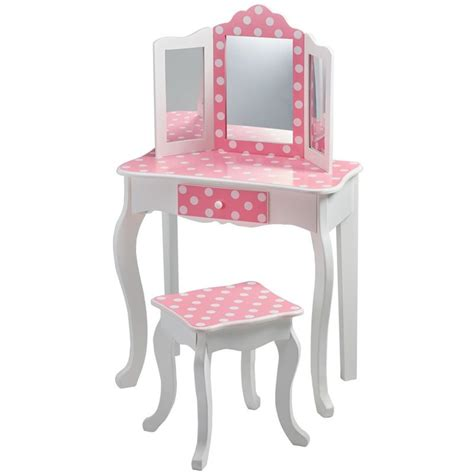 Polka Kid Set teamson fashion prints polka dot vanity table and