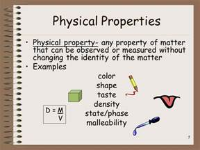is color a physical property matter physical and chemical properties ppt