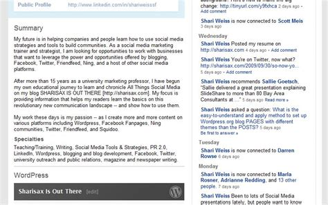 make your linkedin profile work for you sharisax is out there