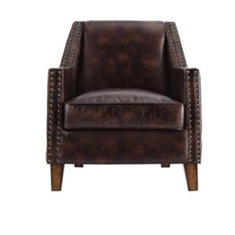 home decorators accent chairs home decorators collection tyler brown bonded leather