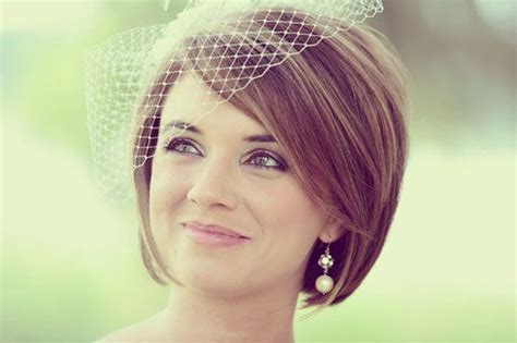 bob hairstyles with veil 15 fantastic short wedding hairstyles pretty designs