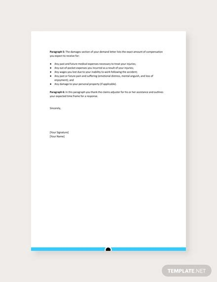 demand letter personal injury template word