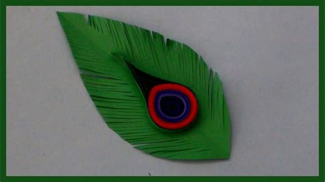 How To Make Peacock Feather With Paper - how to make peacock feathers with paper easy and simple