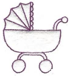 Baby carriage outline embroidery designs machine embroidery designs at embroiderydesigns com