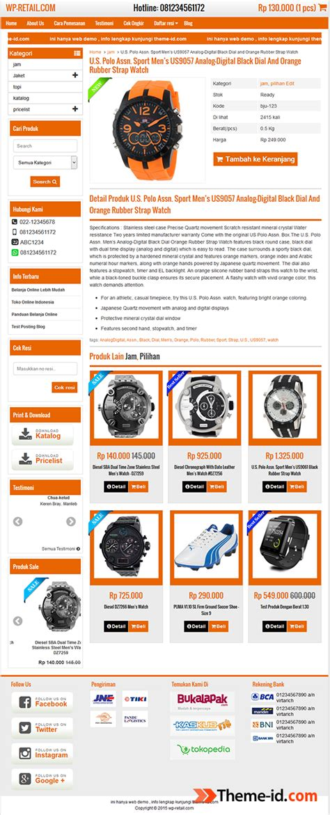 theme toko online wordpress terbaik theme wp retail gratis download by theme id original