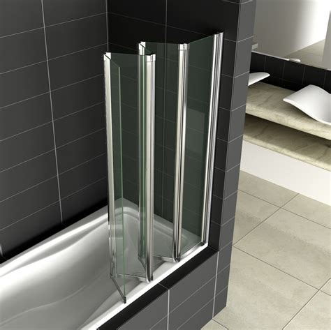 folding shower screens bath 5 fold 1200x1400mm folding shower bath screen easyclean