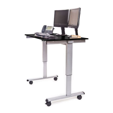 automatic stand up desk 48 quot electric adjustable stand up desk