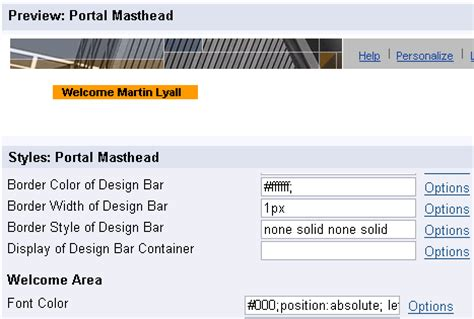 theme editor in sap portal change portal theme attribute and css values