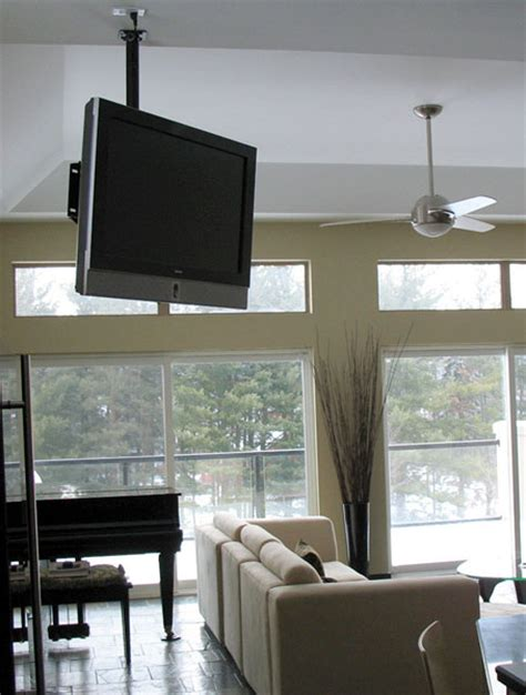 Tv Hung From Ceiling by Misc How Would You Furnish This One Bedroom Apartment