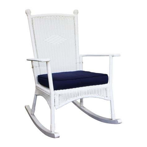 White Rocking Chair Outdoor by Shop Tortuga Outdoor Costal White All Weather Wicker
