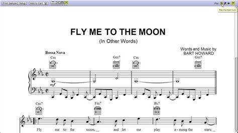 tutorial piano fly me to the moon frank sinatra s fly me to the moon piano sheet music