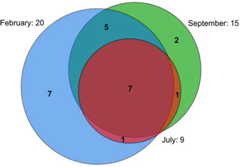 area proportional venn diagram overlap of planctomycete otus between sling times a