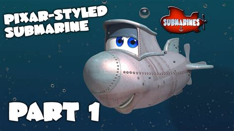 Blender Tutorial Submarine | blender tutorial series pixar style submarine part 1