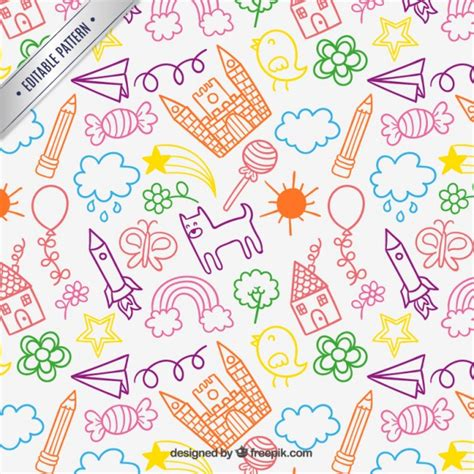 free 3d drawing children drawings pattern vector free