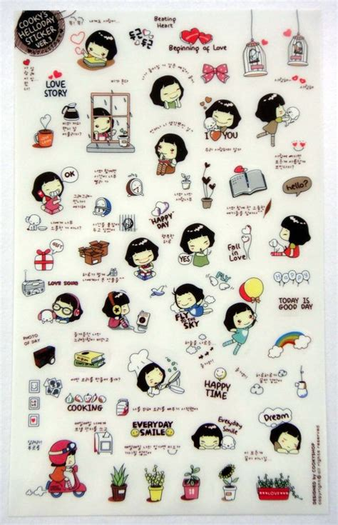 Cat Doodle Diary Deco Stickers Sticker Hiasan Buku 17 best images about stickers on cats ponies and cookies
