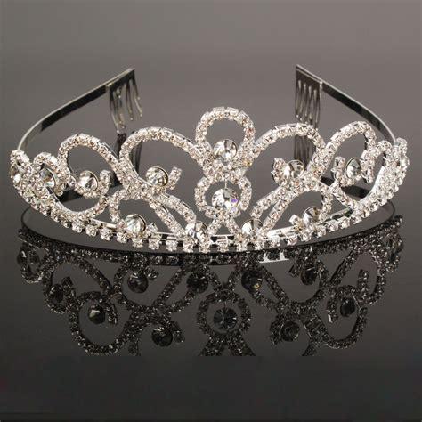 Wedding Crown new bridal tiara crowns hair jewelry rhinestone wedding pageant headband ebay