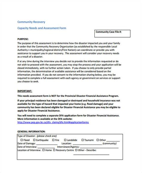 financial needs analysis template free gallery templates