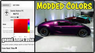 gta 5 crew colors gta 5 new quot modded quot crew color method get any