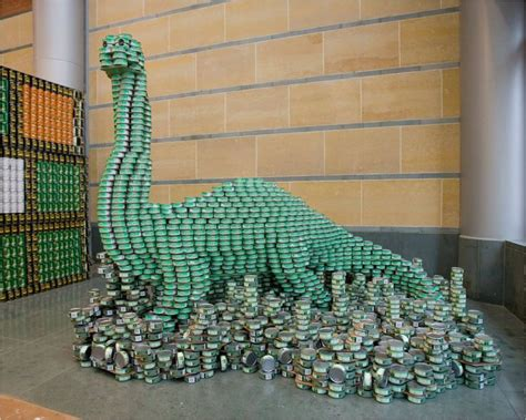 can sculpture soul sanctuary canstruction food can sculptures 40