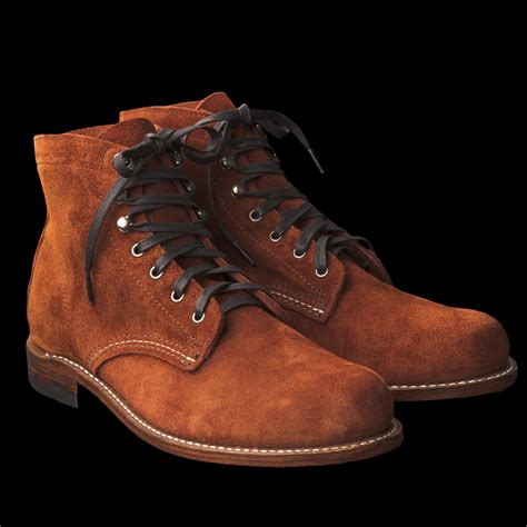 1000 mile boots unionmade wolverine 1000 mile boot in rust suede
