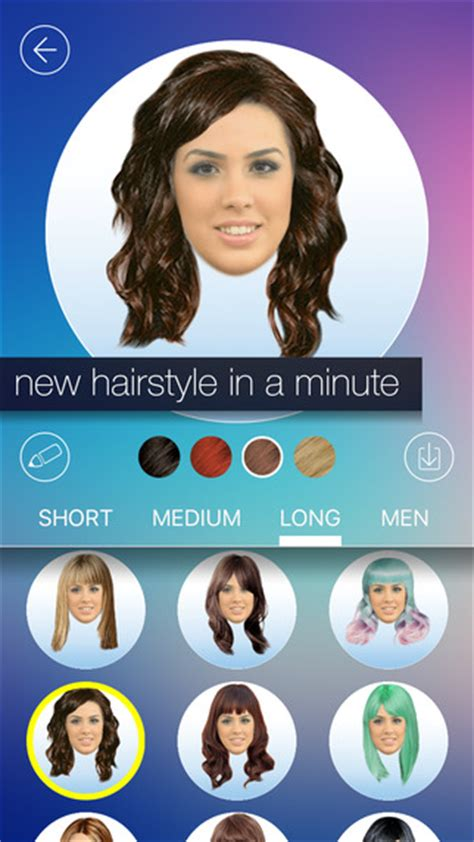 apple app for hairstyles hair makeover new hairstyle and haircut in a minute on