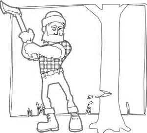 lumberjack cartoon coloring pages coloring coloring pages