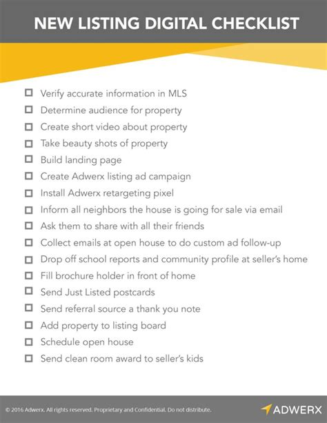 checklist for buying a house without a realtor digital marketing checklist for new real estate listings digital marketing real