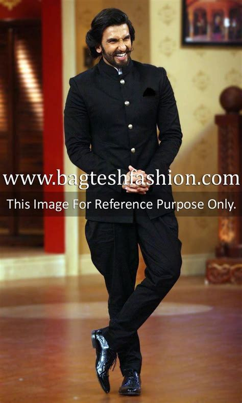 Ranveer Singh Black Jodhpuri Suit   Jodhpuri Suits