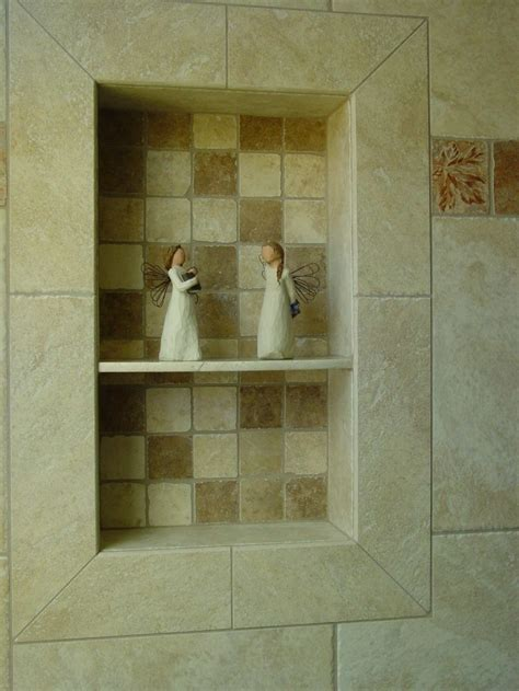 Bathroom Niche Shelves Luxury Marble Wall Panel With Single Tier Shelf For Artwork Display And Soap Storage In Modern