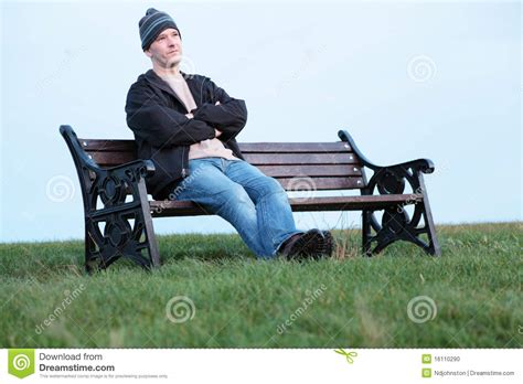 waiting on a bench waiting stock photo image 16110290