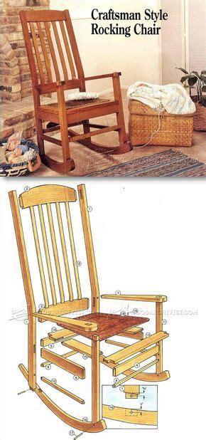 craftsman furniture plans 25 best ideas about rocking chair plans on pinterest