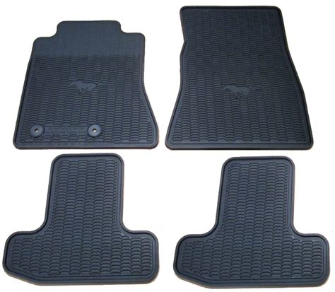 Ford All Weather Floor Mats by Ford Mustang All Weather Floor Mats Package Rpidesigns