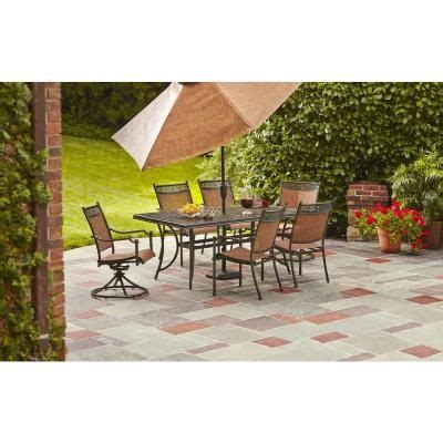 Hampton Bay, Niles Park 7 Piece Sling Patio Dining Set, S7