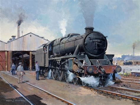 painting trains black 5 4 6 0 lms railway engine steam loco