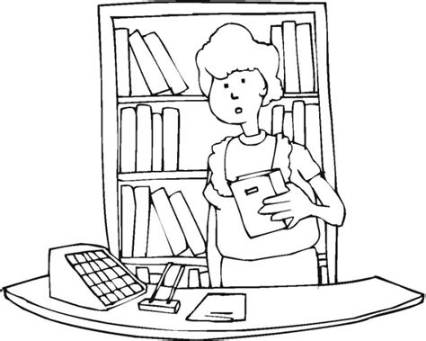 coloring pages library free coloring pages of library book