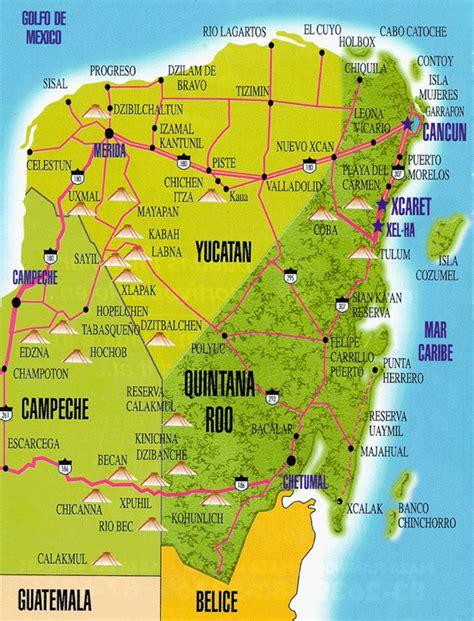 yucatan peninsula map yucat 225 n images