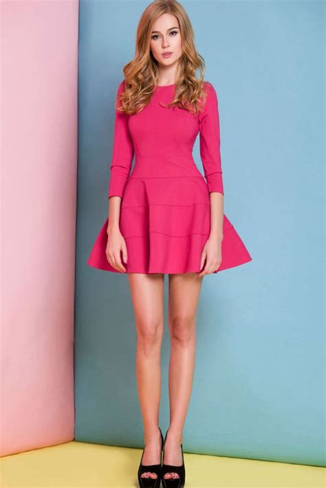 Dress Nl 30 Pink pink skater dress 30 this fit and flare dress is