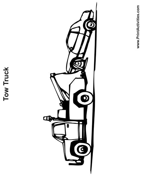 tow truck coloring page printout tow truck coloring page free printable truck activity