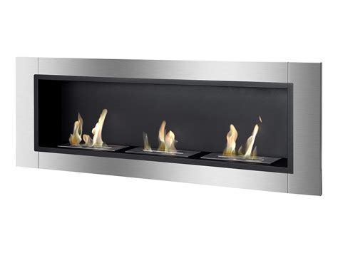 55 quot ignis ardella wall mounted recessed ventless ethanol