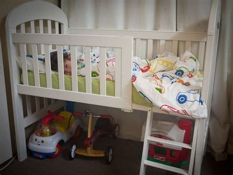 how to turn crib into toddler bed turn an old crib into a toddler bed diy projects for