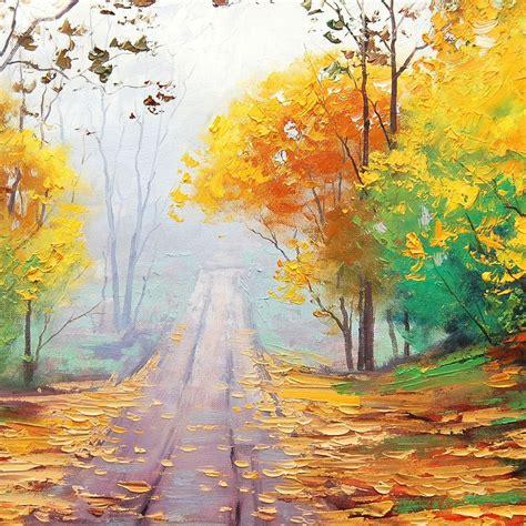 autumn painting wallpaper  wallpapers ipad