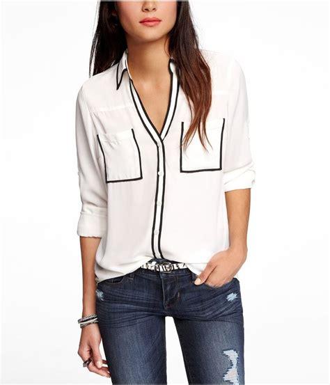 contrast piping shirt contrast piping portofino shirt express backtoschool