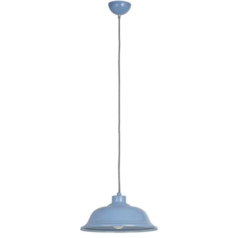 Blue Pendant Light by Endon Lighting Laughton Laughton Blue Pendant Ceiling