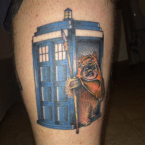 small tardis tattoo inked wednesday 89 an ewok in a tardis and more nerdist