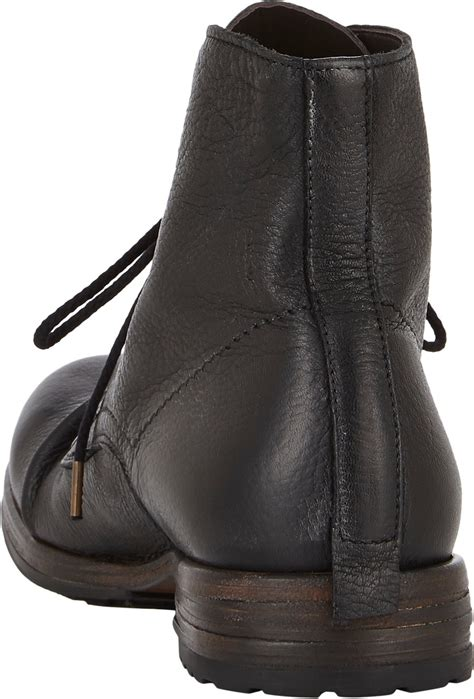 shoto mens boots shoto wrinkled boots in black for lyst