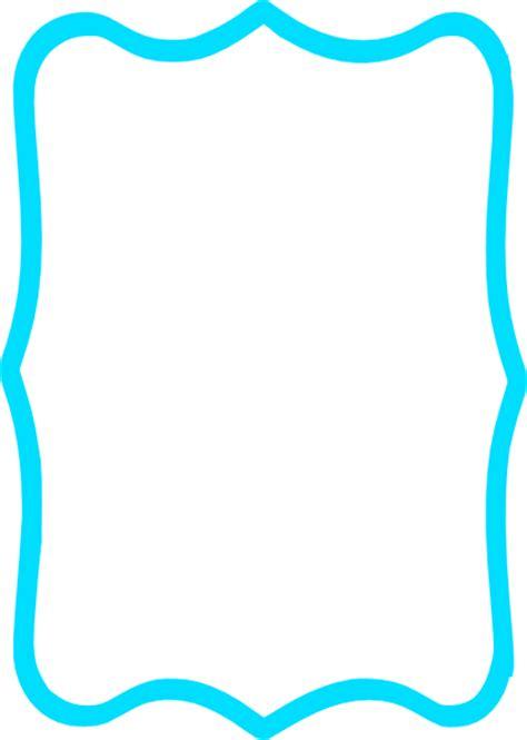 blue fancy square clip art  clkercom vector clip art