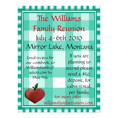 family reunion flyer template family reunion flier flyers zazzle