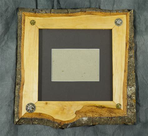 Wood Frame by Edge Photo Frames Custom Handcrafted Solid Wood